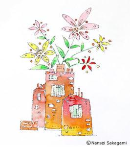 『パリと花』