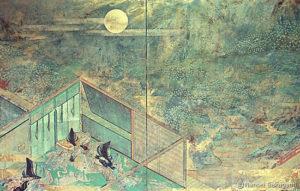 「月下萩水」