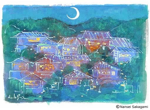 「甲陽園夜景」