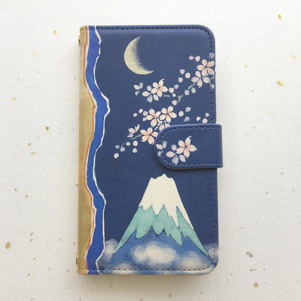 スマホケース「令月桜春富士」